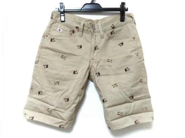 ダルチザン ショートパンツ メンズ ライトブラウン×ダークブラウン 刺繍