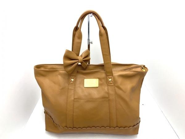LIZLISA(リズリサ) ショルダーバッグ美品  ブラウン リボン 合皮