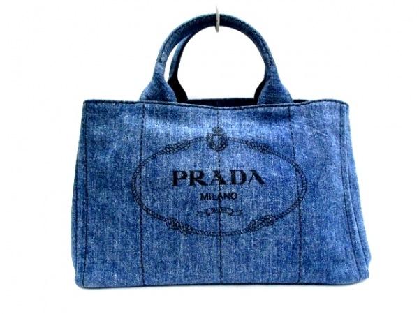 479098522c71 PRADA(プラダ) トートバッグ美品 CANAPA ネイビー×黒 デニムの中古 ...
