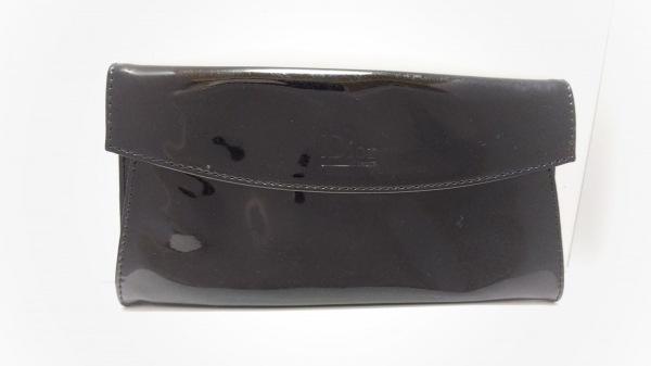 Dior Beauty(ディオールビューティー) 小物入れ 黒 型押し加工 エナメル(合皮)
