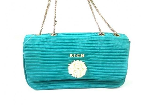 rich(リッチ) ショルダーバッグ グリーンブルー ナイロン