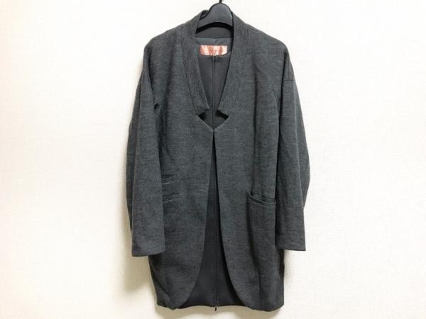 YUMAKOSHINO(ユマコシノ) コート サイズ38 M レディース美品  ダークグレー 冬物