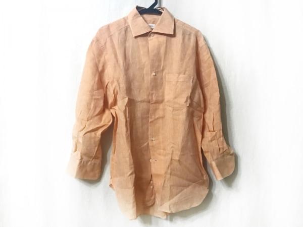 ORIAN(オリアン) 長袖シャツ サイズL メンズ オレンジ 麻