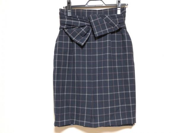 ジャスグリッティー スカート サイズ2 M レディース美品  リボン/チェック柄