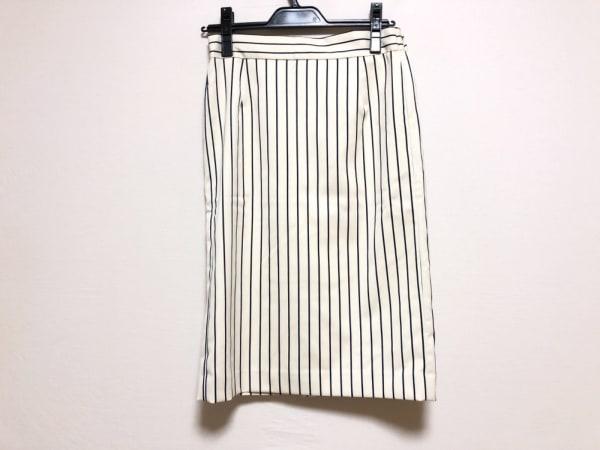 ミラオーウェン スカート サイズ1 S レディース美品  アイボリー×ダークネイビー