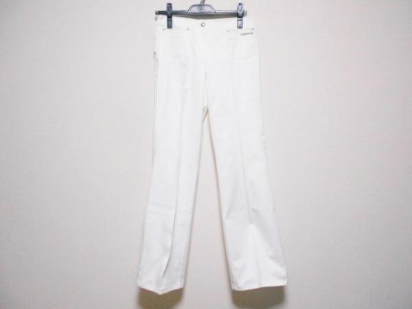 RobertoCavalli(ロベルトカヴァリ) パンツ サイズ40 M レディース 白 ラインストーン