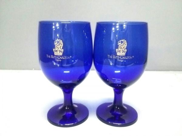 The Ritz-Carlton(ザリッツカールトン) ペアグラス新品同様  ブルー ガラス