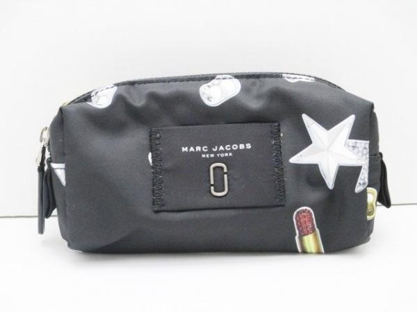 マークジェイコブス ポーチ新品同様  M0012598 黒×ライトグレー×ブラウン