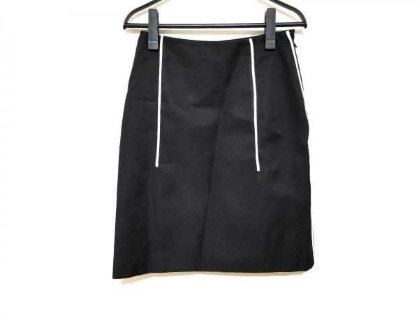 PRADA(プラダ) スカート サイズ36S レディース美品  P193G 黒×アイボリー 2015年