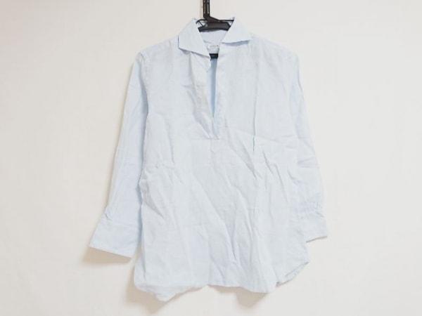 ORIAN(オリアン) 七分袖シャツ サイズ42 L レディース ライトブルー
