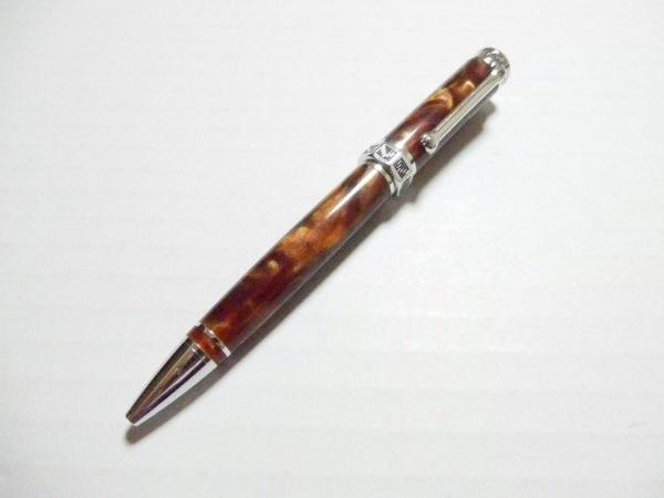 montegrappa(モンテグラッパ) ボールペン美品  ブラウン×シルバー インクなし