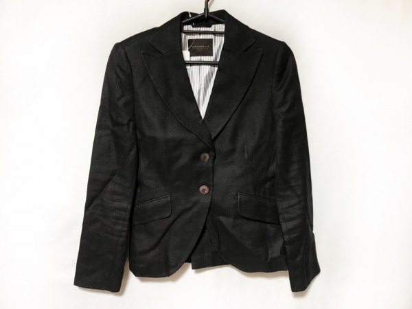 TOMORROWLAND(トゥモローランド) ジャケット レディース美品  黒 肩パッド