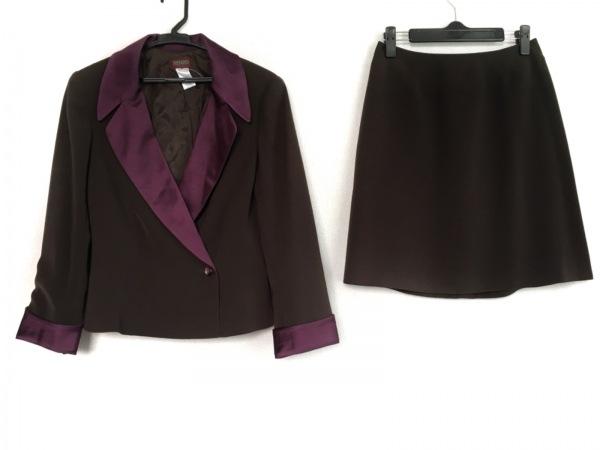KENZO(ケンゾー) スカートスーツ サイズ36 S レディース ダークブラウン×パープル