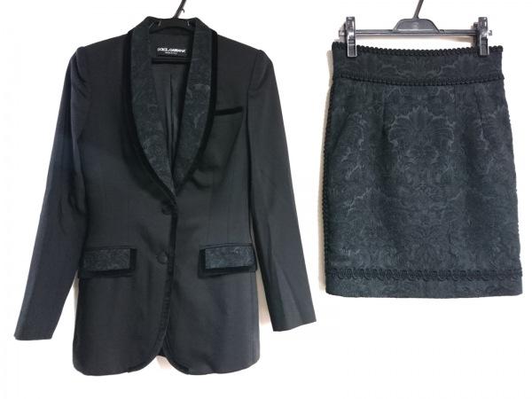 DOLCE&GABBANA(ドルチェアンドガッバーナ) スカートスーツ レディース 黒 刺繍