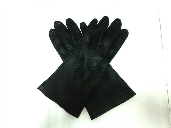 DENTS(デンツ) 手袋 6 1/2 レディース 黒 レザー