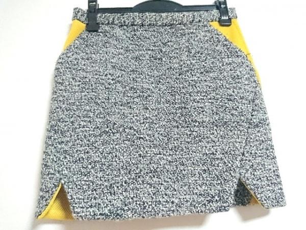 レベッカミンコフ スカート サイズ2 M レディース新品同様  白×黒×イエロー
