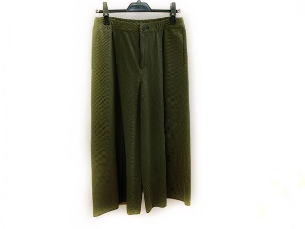 プリーツプリーズ パンツ サイズ3 L レディース美品  ネイビー×イエロー