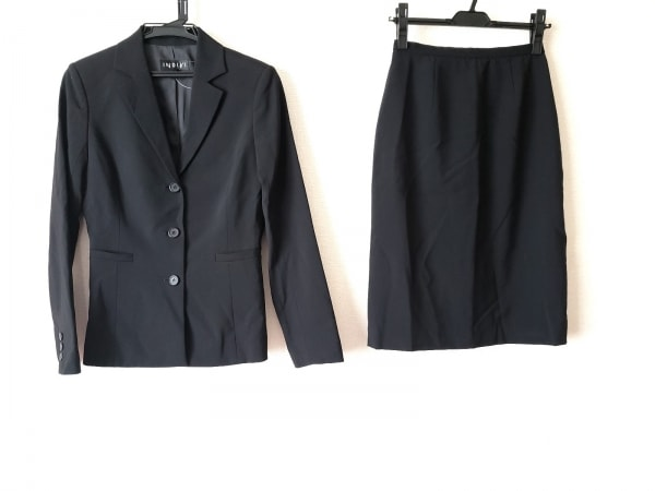 INDIVI(インディビ) スカートスーツ サイズ38 M レディース 黒