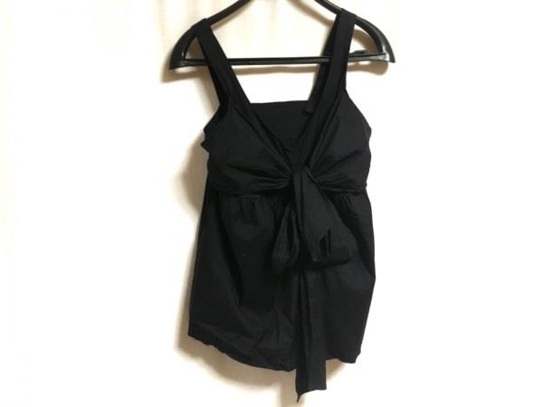 【中古】 ダブルスタンダードクロージング DOUBLE STANDARD CLOTHING キャミソール レディース 黒 リボン