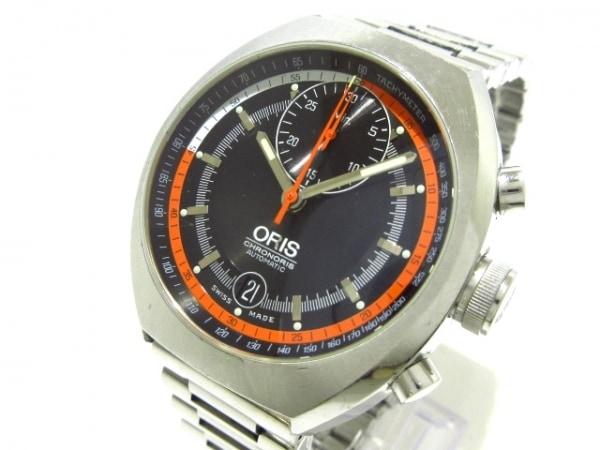 ORIS(オリス) 腕時計 クロノリス 7564 メンズ 黒×オレンジ×白