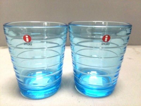 iittala(イッタラ) ペアグラス新品同様  ブルー ガラス