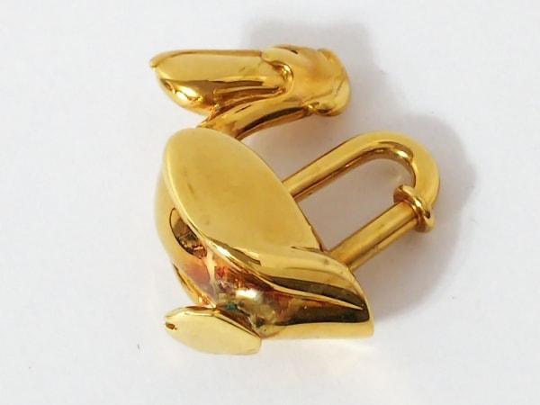 HERMES(エルメス) キーホルダー(チャーム) カデナ ゴールド ペリカン 金属素材