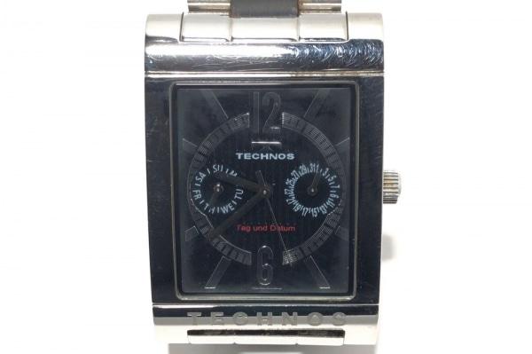 TECHNOS(テクノス) 腕時計 T2046 メンズ 黒