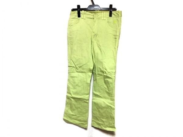 キャロウェイ パンツ サイズM レディース ライトグリーン×ダークグレー メッシュ