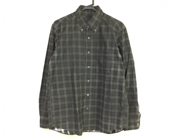 SOPHNET(ソフネット) 長袖シャツ サイズL メンズ 黒×マルチ チェック柄