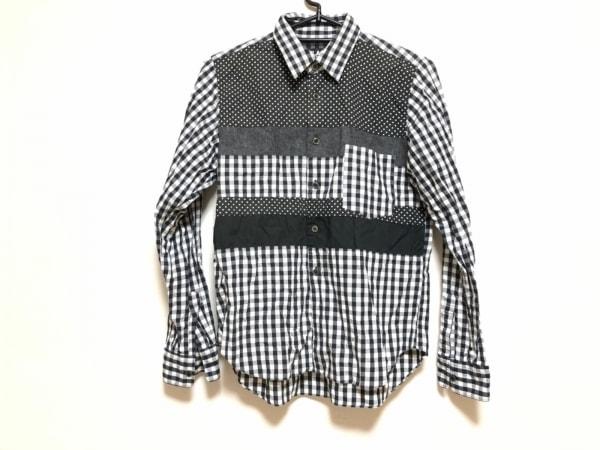 ブラックコムデギャルソン 長袖シャツ サイズS メンズ 白×黒×グレー