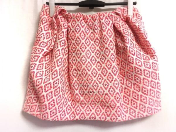 ランバンオンブルー スカート サイズ38 M レディース アイボリー×ピンク×マルチ