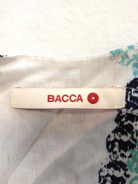 BACCA(バッカ) ワンピース サイズ38 M レディース 白×ダークネイビー×マルチ