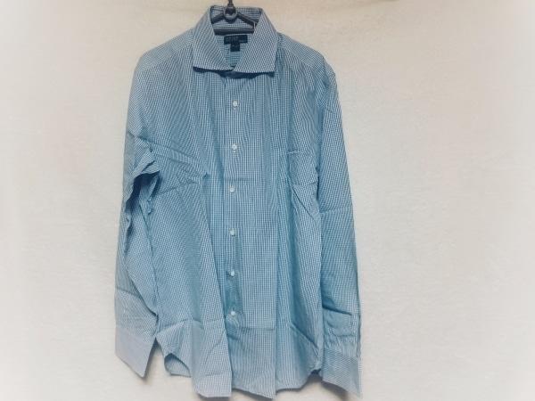 ORIAN(オリアン) 長袖シャツ サイズ42 L メンズ美品  ブルー×ライトブルー