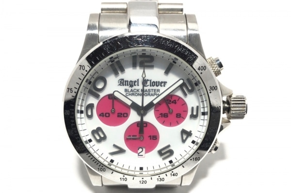 Angel Clover(エンジェルクローバー) 腕時計 BM41 メンズ クロノグラフ 白×ピンク
