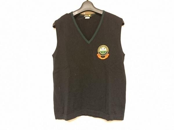 マックデイビッド ノースリーブセーター サイズM レディース 黒×ダークグリーン