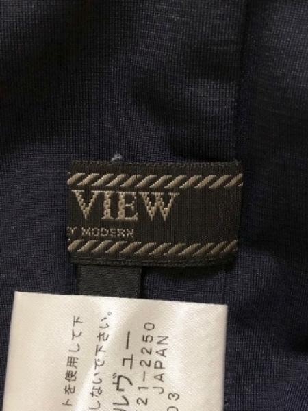DUAL VIEW(デュアルヴュー) ワンピース サイズ40 M レディース ネイビー スパンコール