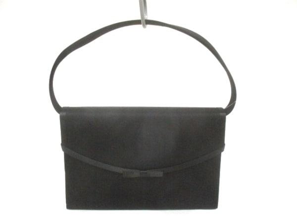 TOKYOIGIN(トウキョウイギン) ハンドバッグ美品  黒 リボン 化学繊維