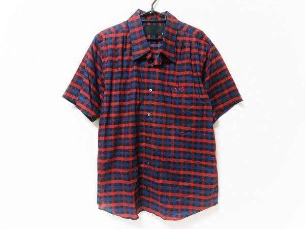 Roen(ロエン) 半袖シャツ サイズ52 メンズ美品  レッド×黒×ネイビー
