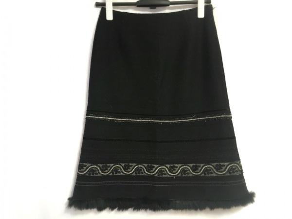 KEITA MARUYAMA(ケイタマルヤマ) スカート レディース 黒×グレー ラメ