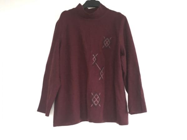 Leilian(レリアン) 長袖セーター サイズ13 L レディース ボルドー カシミヤ混