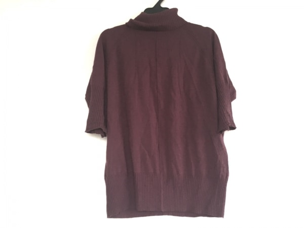 レリアン 長袖セーター サイズ13+ S レディース ボルドー タートルネック/薄手