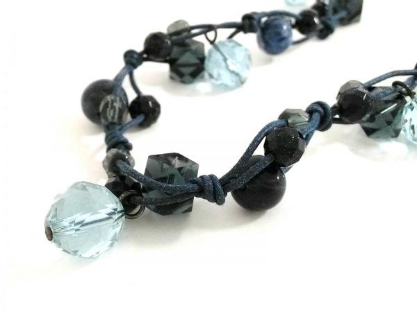 ヴァンドーム青山 アクセサリー美品  化学繊維×プラスチック ネイビー×黒×クリア