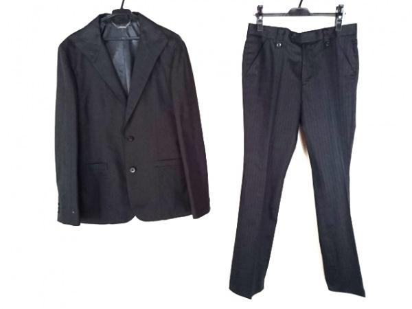 BARREAUX(バルー) シングルスーツ メンズ 黒 ストライプ