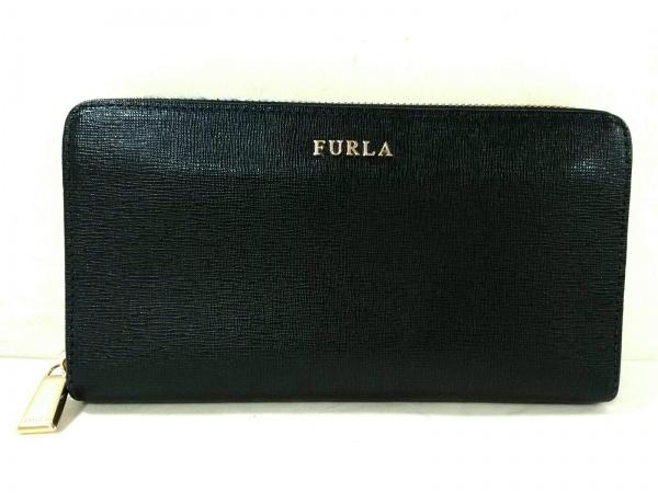 54b874256a68 FURLA(フルラ) 長財布 ダークネイビー ラウンドファスナー レザーの中古 ...
