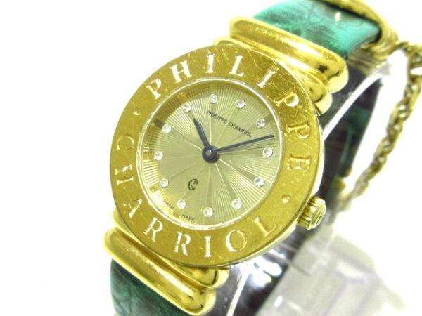 フィリップシャリオール 腕時計 サントロペ 7007901 レディース ゴールド