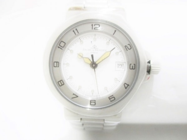 BAUME&MERCIER(ボーム&メルシエ) 腕時計美品  MV04F028 レディース 白