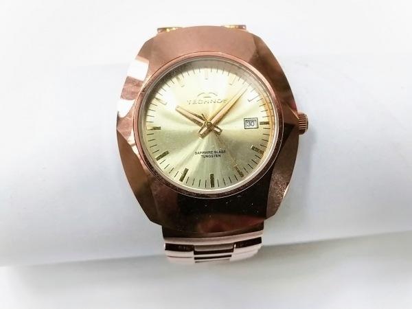TECHNOS(テクノス) 腕時計 TAM684 メンズ SS ゴールド