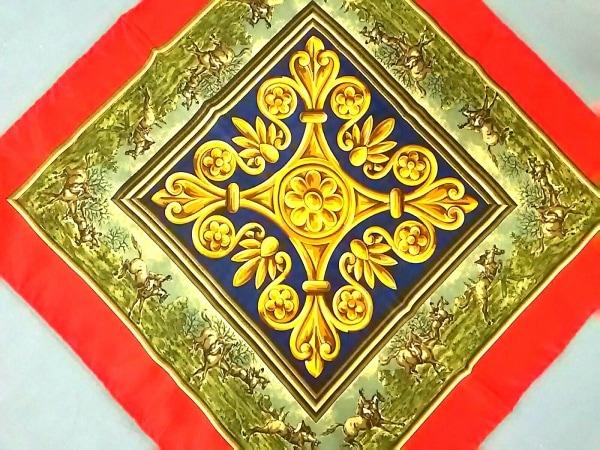 ChristianDior(クリスチャンディオール) スカーフ美品  レッド×ゴールド×マルチ