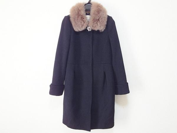 アプワイザーリッシェ コート サイズ2 M レディース 黒 冬物/ビジュー