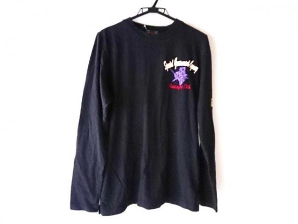 錦(ニシキ) 長袖Tシャツ サイズM メンズ 黒 刺繍